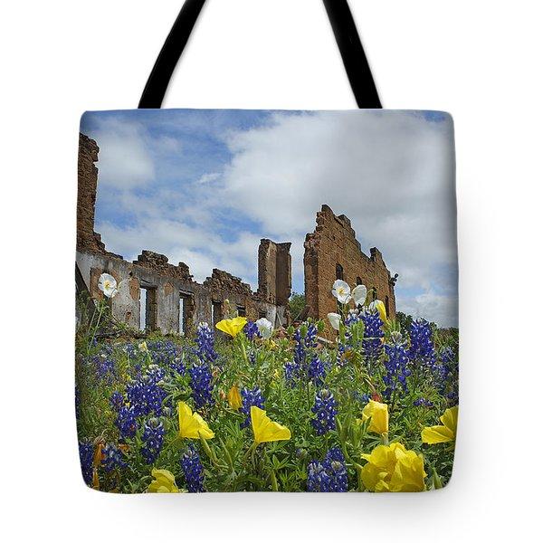 Pontotoc Schoolhouse Tote Bag by Susan Rovira