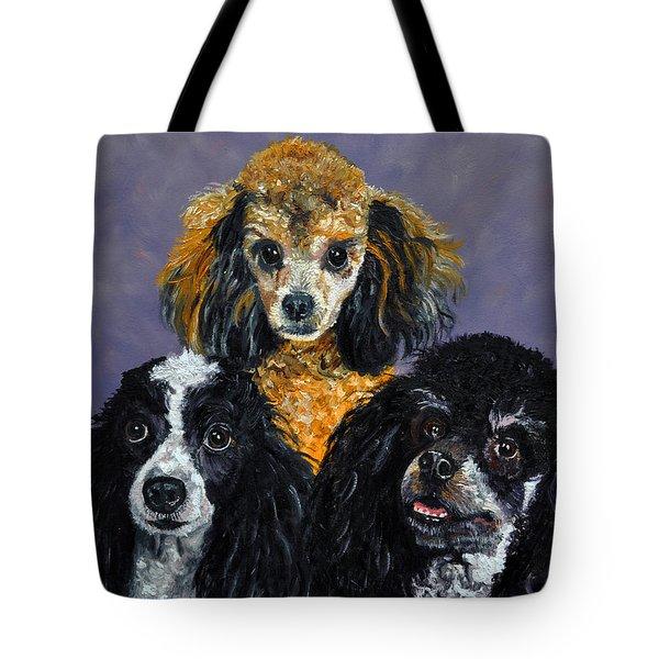 Poodles Tote Bag by Stan Hamilton