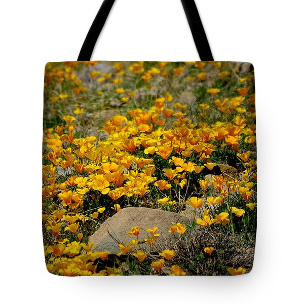 Poppies Everywhere Tote Bag