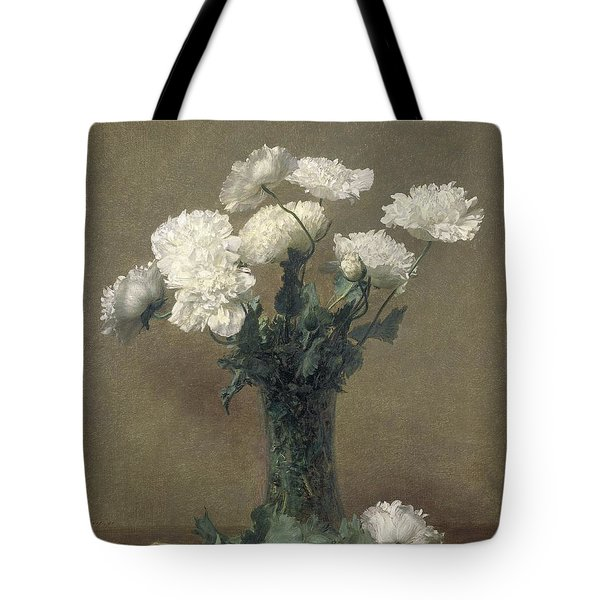 Poppies Tote Bag by Ignace Henri Jean Fantin-Latour