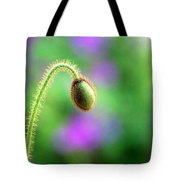 Tote Bag featuring the photograph Poppy Bud by Linda Cox