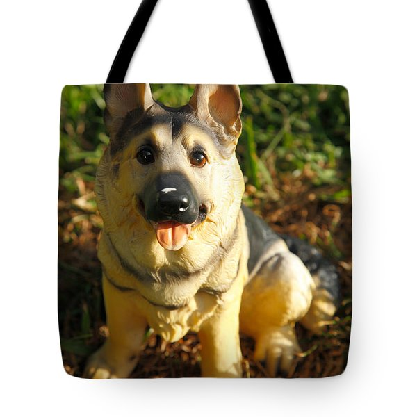 Porcelain German Shepherd Tote Bag by Gaspar Avila