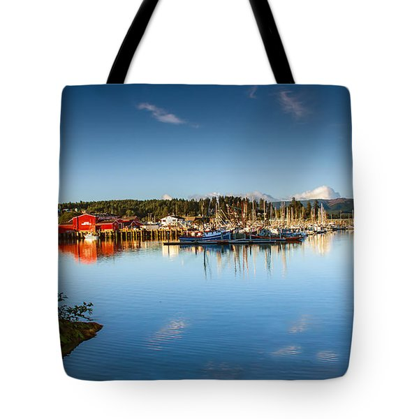 Port Of Ilwaco Tote Bag by Robert Bales