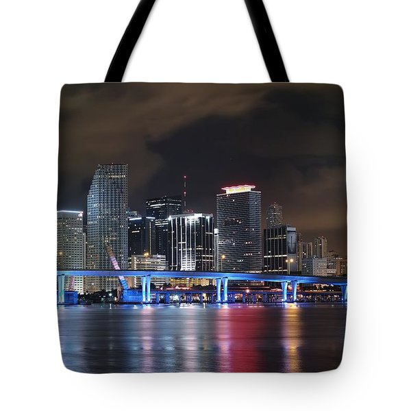 Port Of Miami Downtown Tote Bag