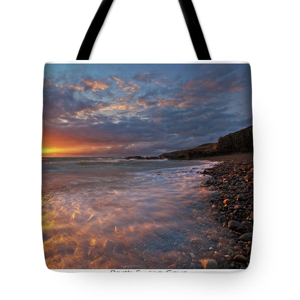 Tote Bag featuring the photograph Porth Swtan Cove by Beverly Cash