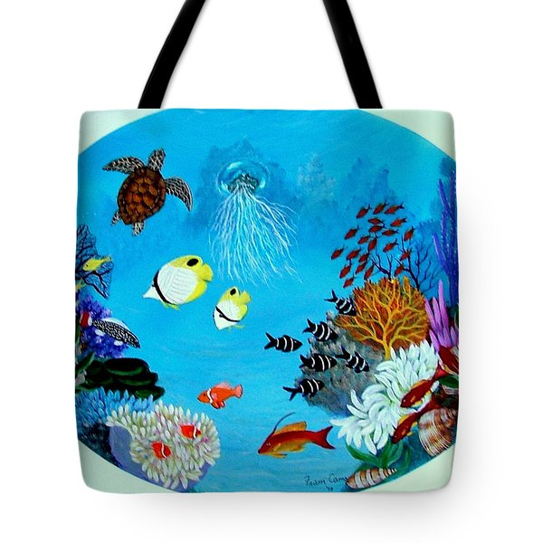 Tote Bag featuring the painting Porthole by Fram Cama