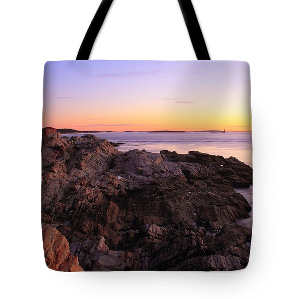 Portland Head Lighthouse Seascape Tote Bag by Roupen  Baker