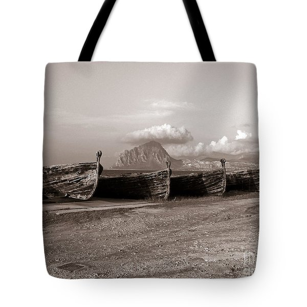 Tote Bag featuring the photograph Old Port Of Trapani by Silva Wischeropp