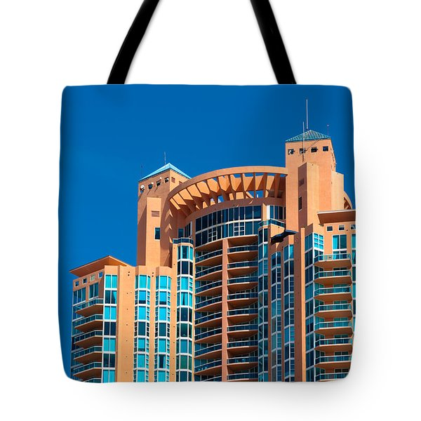 Portofino Tower At Miami Beach Tote Bag