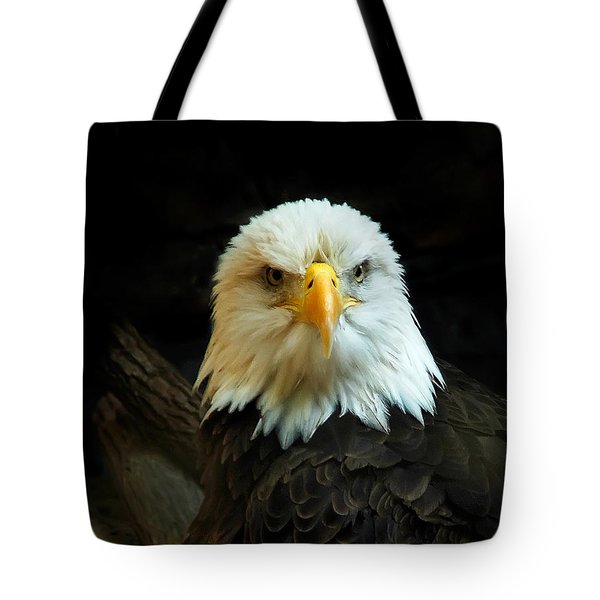 Tote Bag featuring the photograph Portrait American Bald Eagle by Randall Branham