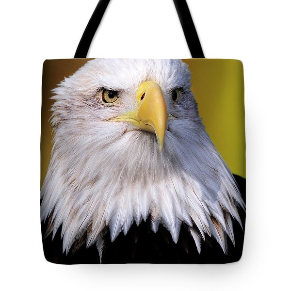 Portrait Of A Bald Eagle Tote Bag