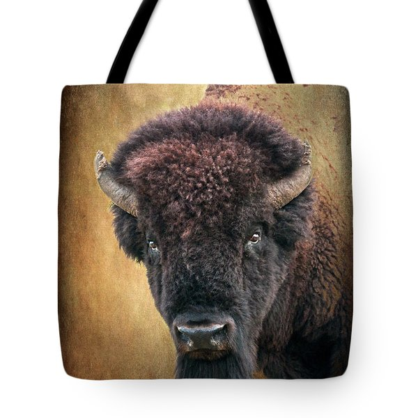Portrait Of A Buffalo Tote Bag by Tamyra Ayles