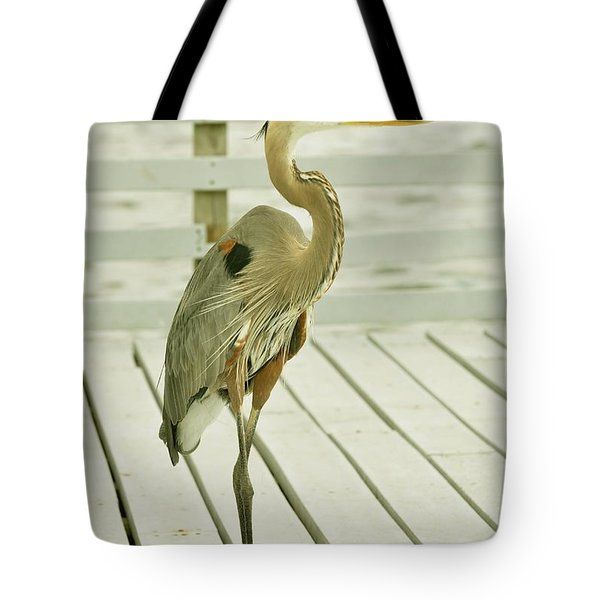 Portrait Of A Heron Tote Bag by Rick Frost