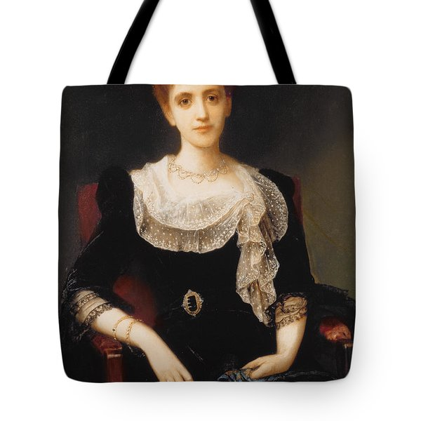 Portrait Of A Lady Tote Bag by Charles Edward Halle