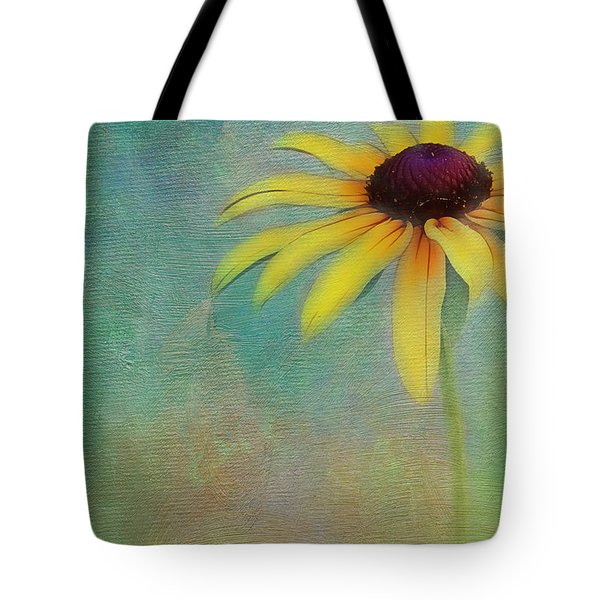 Portrait Of A Sunflower Tote Bag by Judi Bagwell