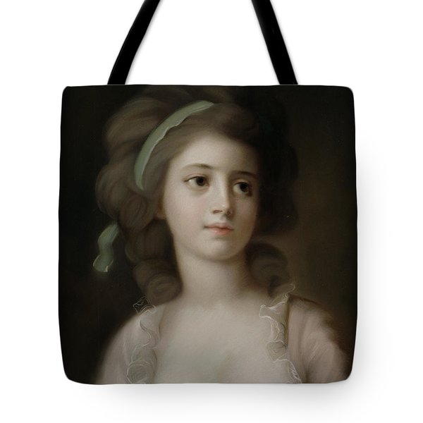 Portrait Of A Young Lady Tote Bag by French School