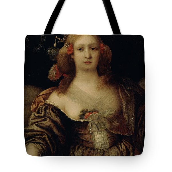 Portrait Of A Young Woman  Tote Bag by Girolamo Forabosco