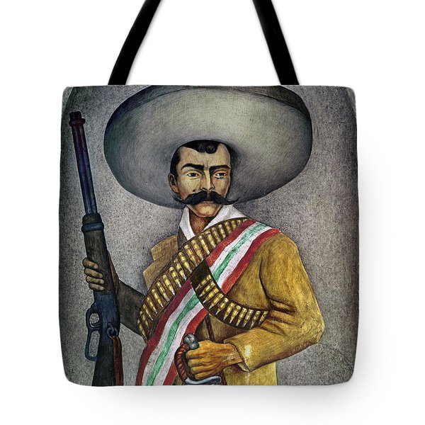 Portrait Of A Zapatista Tote Bag by Granger