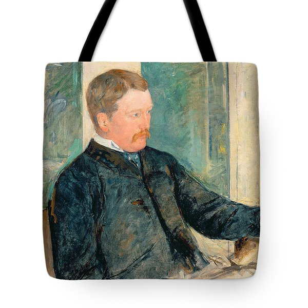 Portrait Of Alexander J. Cassatt Tote Bag by Mary Stevenson Cassatt