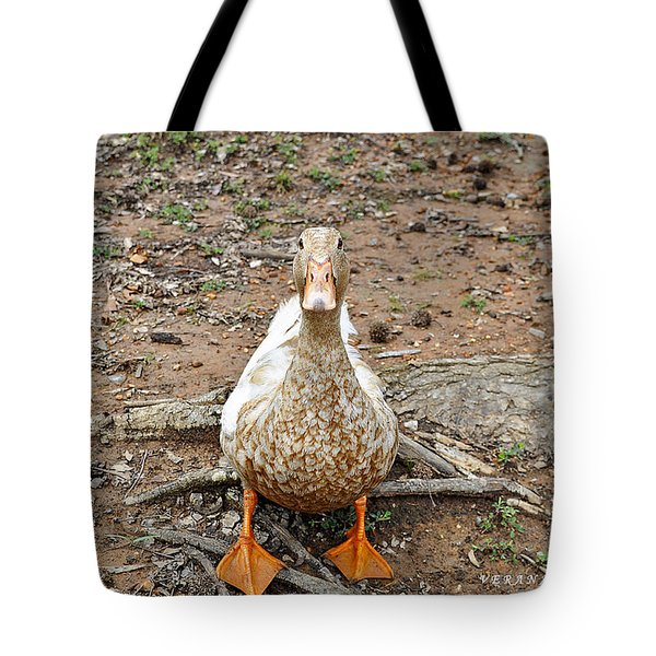 Tote Bag featuring the photograph Portrait Of An Alabama Duck by Verana Stark