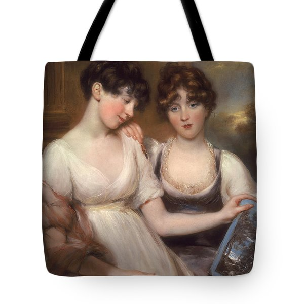 Portrait Of Anne And Maria Russell Tote Bag by John Russell