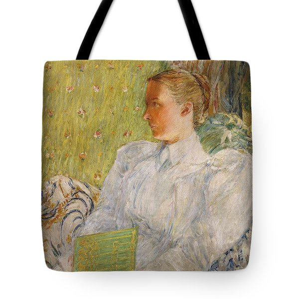 Portrait Of Edith Blaney Tote Bag by Childe Hassam