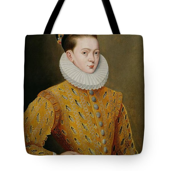 Portrait Of James I Of England And James Vi Of Scotland  Tote Bag by Adrian Vanson