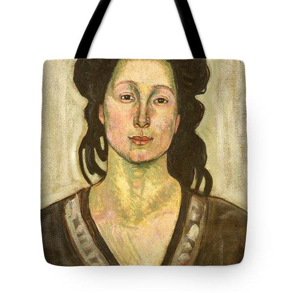 Portrait Of Jeanne Cerani Tote Bag by  Ferdinand Hodler