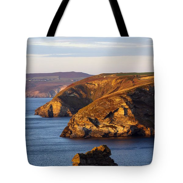 Portreath North Cliffs Tote Bag