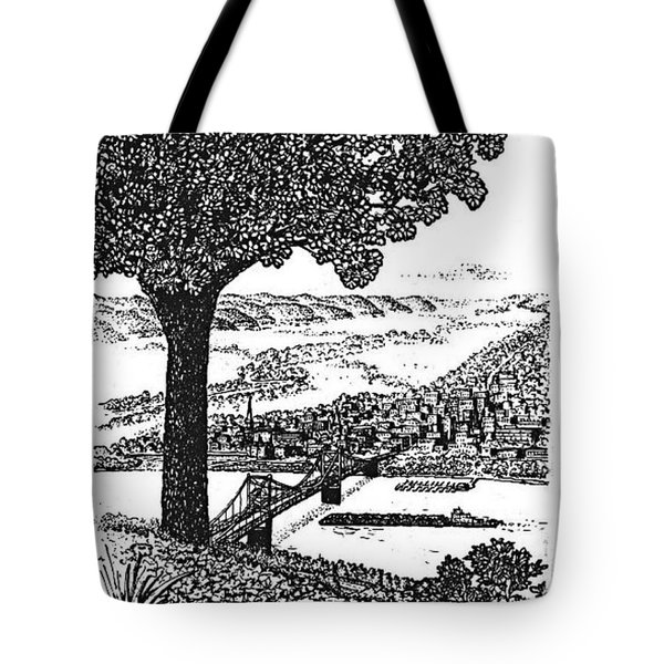 Portsmouth Ohio From A Kentucky Hill Tote Bag by Frank Hunter