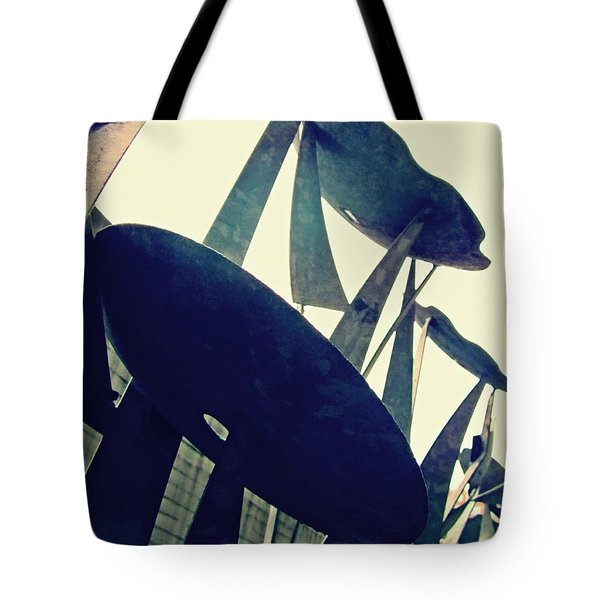 Post Alley Poppies Tote Bag by Leanna Lomanski