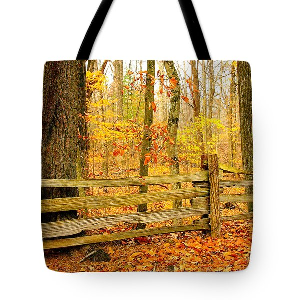 Post And Rail Tote Bag