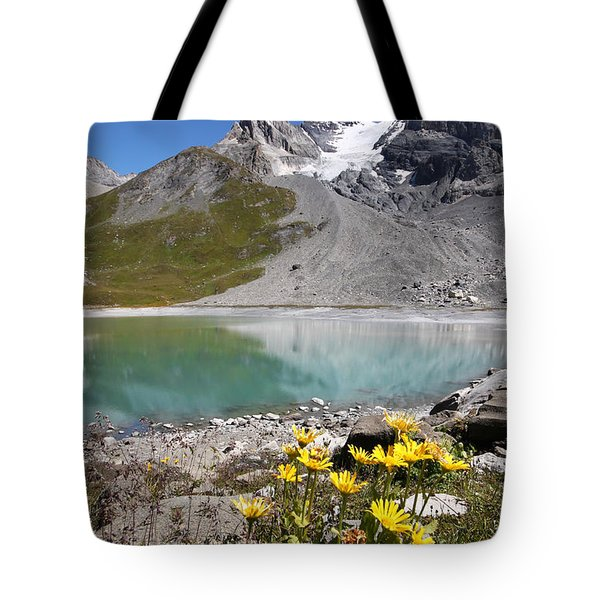 Postcard From Alpes Tote Bag by Mircea Costina Photography