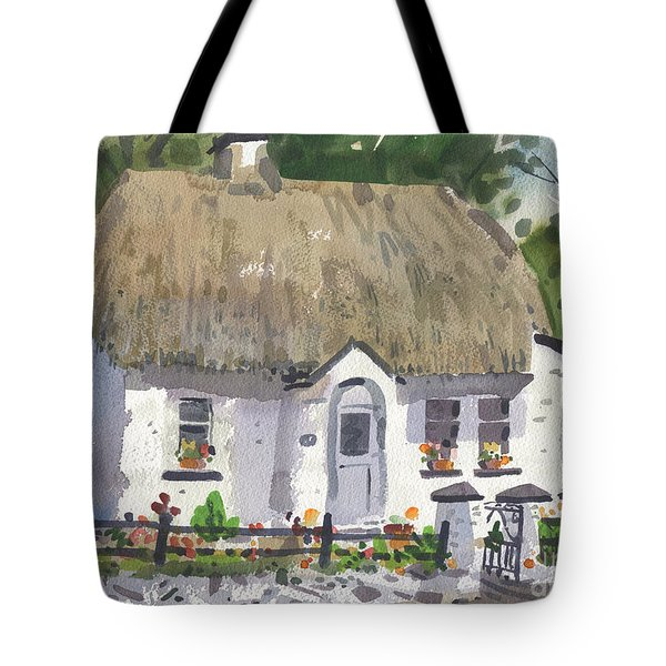 Tote Bag featuring the painting Postman's Cottage by Donald Maier