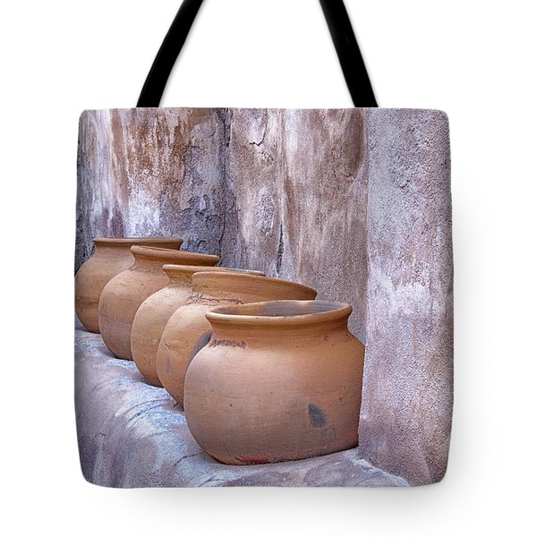 Pottery Of The Past Tote Bag by Sandra Bronstein