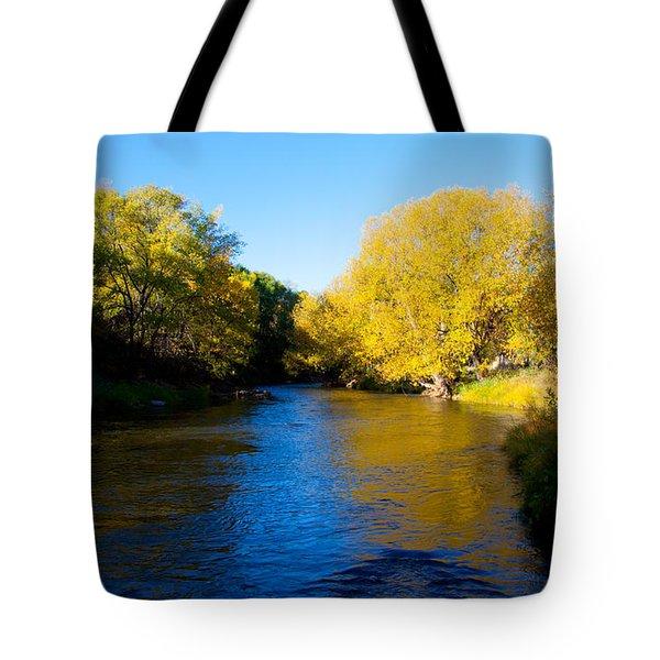 Poudre River Tote Bag by Dana Kern