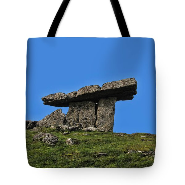 Tote Bag featuring the photograph Poulnabrone Dolmen by David Gleeson