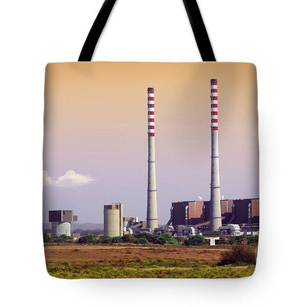 Power Plant Tote Bag by Carlos Caetano