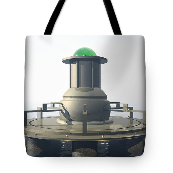 Tote Bag featuring the digital art Power Platform by Phil Perkins
