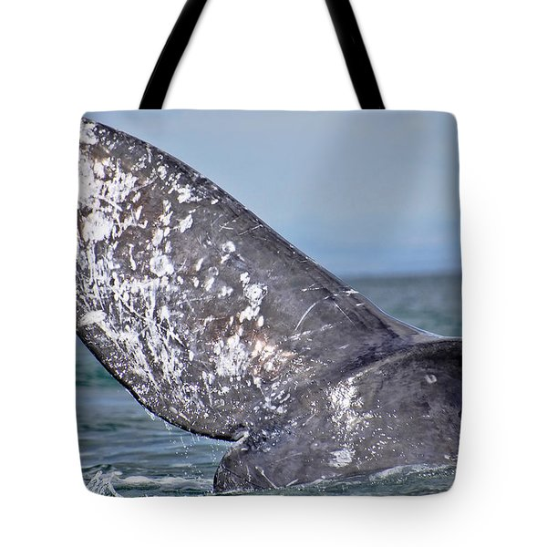 Tote Bag featuring the photograph Powerful Fluke by Don Schwartz