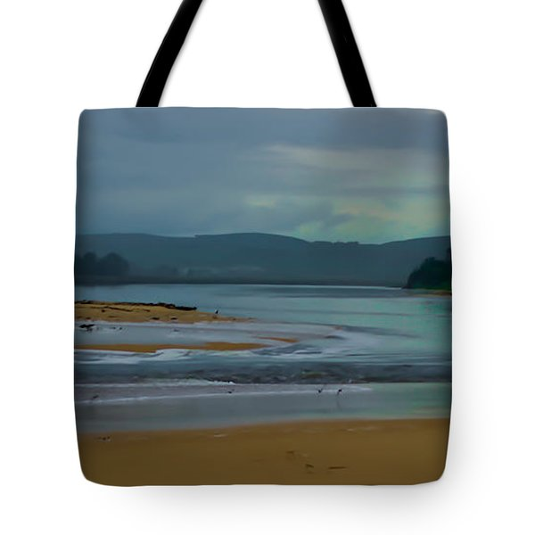 Powlett River Inlet On A Stormy Morning Tote Bag by Blair Stuart