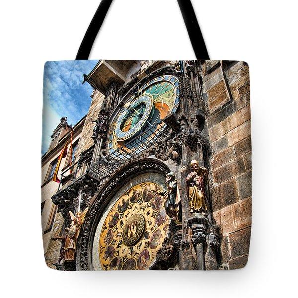 Prague Astronomical Clock Tote Bag by Jon Berghoff