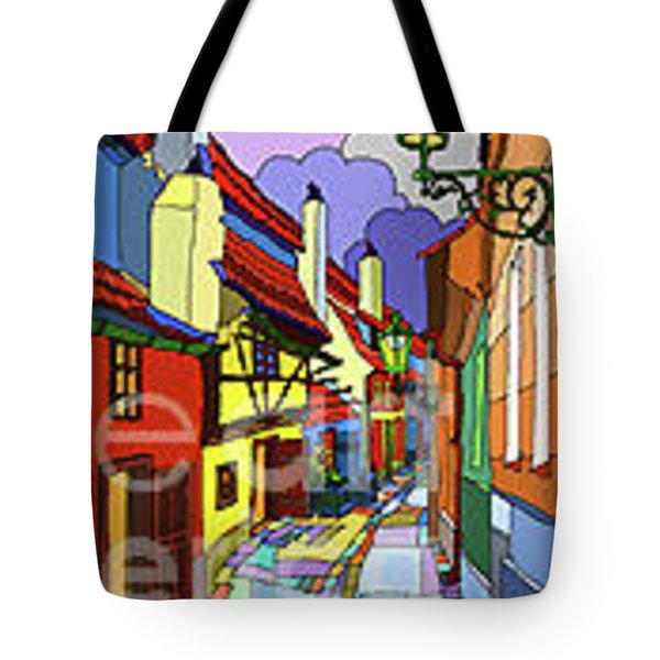 Prague Golden Line Tote Bag