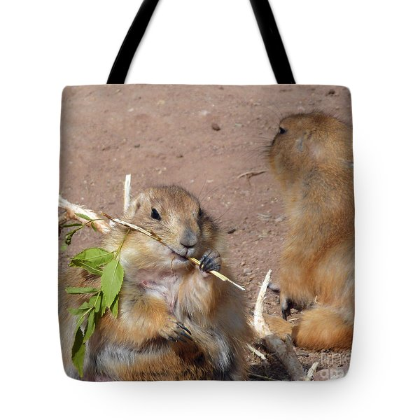 Prairie Dogs Tote Bag by Methune Hively