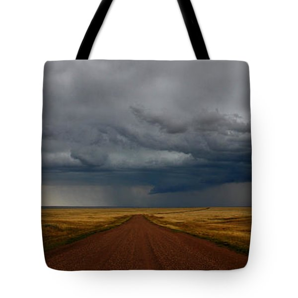 Prairie Storm In Canada Tote Bag