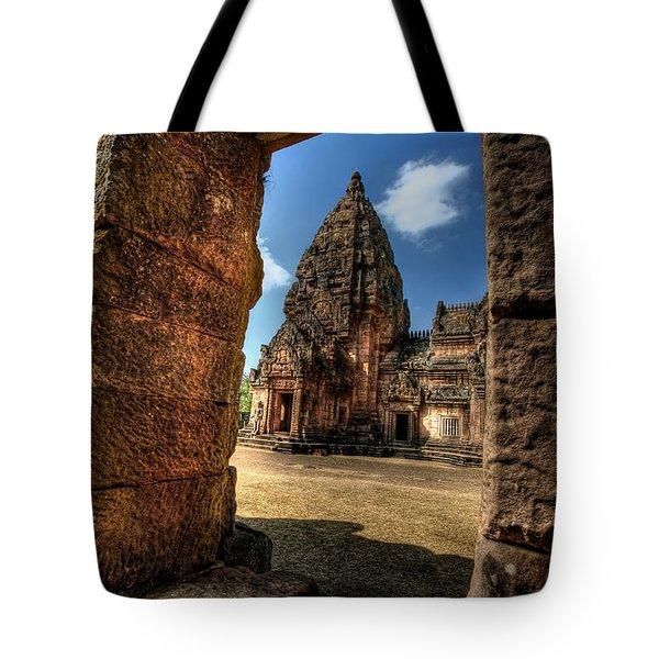 Prasat Phnom Rung Tote Bag by Adrian Evans