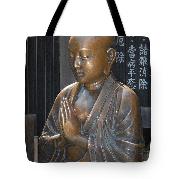 Praying Buddha Tote Bag