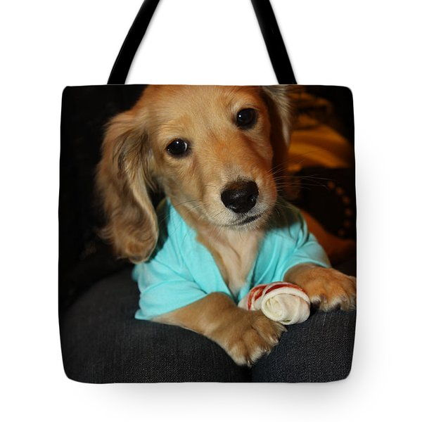 Precious Puppy Tote Bag