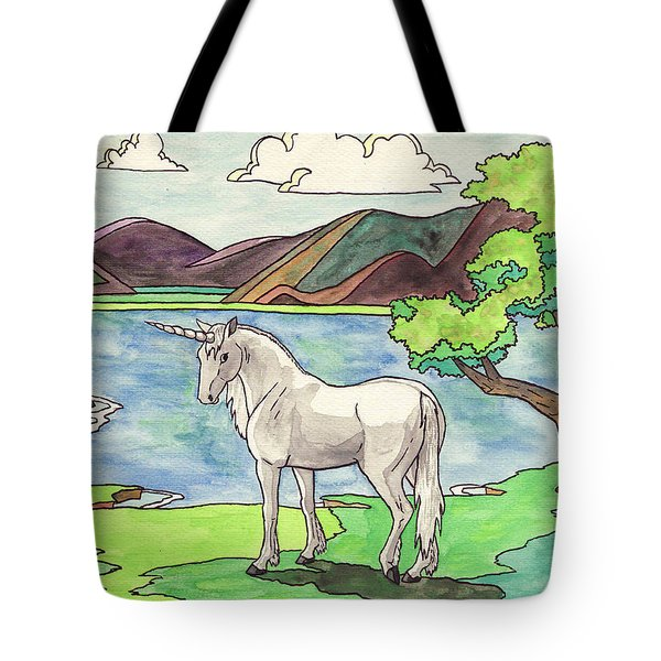 Prehistoric Unicorn Tote Bag by Crista Forest