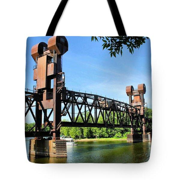 Prescott Lift Bridge Tote Bag by Kristin Elmquist